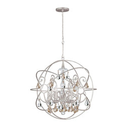 Crystorama - 9028-OS-GS-MWP Crystorama Solaris - Crystal chandeliers are glamorous and old Hollywood. We have expanded our best selling Solaris Collection to add crystal elements inside the perfect sphere.