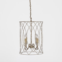 Mia Chandelier - This is an elegant hanging fixture crafted of gilded metal and antique style candles. It is an excellent light to use with in a foyer or hanging over a rustic oak table in a kitchen or dining area. No matter where you put this piece, the Mia will be right at home.