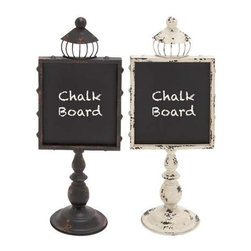 Benzara - Set of Twin Black and Pink Colored Metal Wood Blackboard Assorted - Set of twin black and pink colored metal wood blackboard assorted. Notify your family of important dates, messages and notes with these metal wood blackboards. Some assembly may be required.