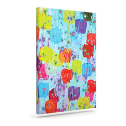 """Kess InHouse - Ebi Emporium """"Speckle Me Dotty"""" Wrapped Art Canvas (12"""" x 10"""") - Bring your outdoor patio to life with this artistic outdoor canvas wrap featuring gorgeous artwork by KESS InHouse. These canvases are not only easy to hang and remove but also are the perfect addition to your patio collection. These canvases are stretched around a wooden frame and are built to withstand the elements and still look artistically fabulous. Decorating your patio and walls with these prints will add the splash of art and color that is needed to bring your patio collection together! With so many size options and artwork to choose from, there is no way to go wrong with these KESS Canvas Wraps!"""