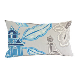 The Pillow Studio - Asian Inspired Designer Lumbar Pillow Cover in Grey and Blue - I think this might be one of my all-time favorite pillows! The blues are so striking and so well paired with the grey background. And, I love that the design is a contemporary take on a traditional pattern. It really does make me happy...