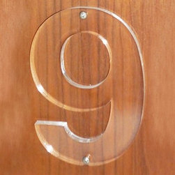 Boom Design 9136 Lucite House Number - True Lucite lovers, broadcast your affection for the clear material at the moment guests reach your door.