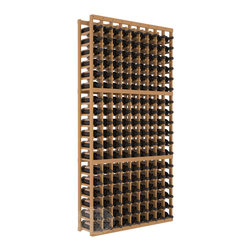 9 Column Standard Cellar Kit in Pine with Oak Stain + Satin Finish - A 9 column solution from our most popular style of wine racking. Completely solid assembly to withstand extensive use. We guarantee it. All the edges of our products are softened to ensure you won't get nicks or splinters, like you will from budget brands. You'll be satisfied. We guarantee that, too.