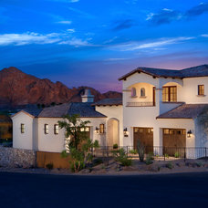 Transitional Exterior by Cullum Homes and  Renovations