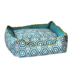 ez living home - Honeycomb Couch Bed Turquoise - *Aesthetically pleasing geometric pattern, EZ to decorate with, suitable for any style.