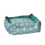 ez living home - Honeycomb Couch Bed Turquoise, Medium - *Aesthetically pleasing geometric pattern, EZ to decorate with, suitable for any style.