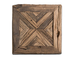 Uttermost - Rennick Reclaimed Wood Wall Art - Pine no longer for distinctive artwork! This wood mosaic is crafted from reclaimed pieces to make a rustic yet remarkable statement in your decor.