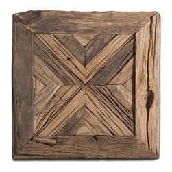 Uttermost - Rennick Reclaimed-Wood Wall Art - Pine no longer for distinctive artwork! This wood mosaic is crafted from reclaimed pieces to make a rustic yet remarkable statement in your decor.