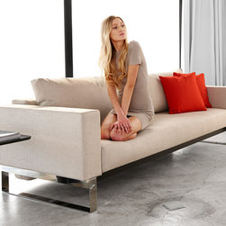 "Innovation USA - ""Innovation USA"" Cassius Sleek Sofa Bed in Natural Khaki - We offer you one of the best ways to elevate your home decor to the highest level without any sacrifices. This ""Innovation USA"" Cassius Sleek Sofa Bed in Natural Khaki has a smart design that allows you to save the free space in small interiors. To transform the sofa into a Queen size Bed, just pull the seat and fold down the backrest. Patented 10"" iComfort mattress ensures the highest comfort for you or your guests.    Features:"