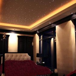 Denver - Loft - Fiber optic star ceiling in traditional loft space.