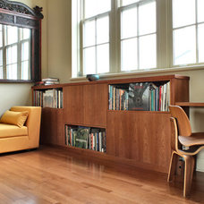 Contemporary Bookcases by Handwerk Interiors