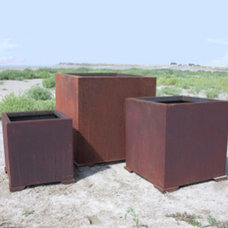 Contemporary Outdoor Planters by Yard Art