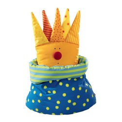 Haba Roll Neck Pillow Tsar Zig-Zag - This colorful tsar pillow will catch your child's royal attention. It certainly caught ours, with its plush hand-washable fabric and funny face. Turn the collar down to expose the funny fellows faces.