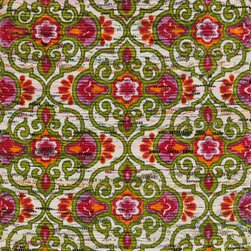 "Loloi Rugs - Loloi Rugs Aria Collection - Green / Pink, 2'-3"" x 3'-9"" - Expressive and relaxed, stylish and fun. The Aria Collection from India has it all. Pretty paisley patterns, flourishing flowers, dreamy damasks and magical medallion designs are printed onto 100% recycled cotton Chindi for scatter rugs that are flirty and fashionable. Dressed in a palette of bold, saturated colors that take you from cool blues and pinks to warm spice tones and modern tropical hues, too, Aria rugs come in select scatter sizes that will accent choice spaces with flair."