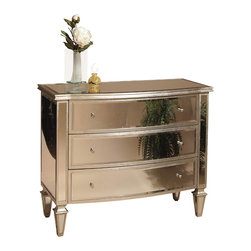 Bassett Mirror - Mirror Chest - Completely clear mirrored on all sides. Measures: 43 in. W x 20 in. D x 34 in. H.