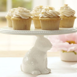 Bunny Cake Stand - How can you not smile at the sight of this one? I think it's absolutely perfect for presenting frilly cupcakes. It's part of a family of bunny-themed serveware that includes a cookie jar, sugar bowl, creamer, candy bowl and more. Irresistible!