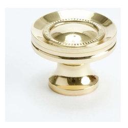 Berenson Decorative Hardware - Berenson Plymouth Knob 1  1/4 in. Dia. Polished Brass -