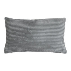 Pillow Decor Ltd. - Pillow Decor - Wide Wale Corduroy Dark Gray 12 x 20 Throw Pillow - The Wide Wale Corduroy 12 x 20 Throw Pillows are a beautiful velvety soft pillow in wide wale corduroy. Casual and contemporary, these pillows coordinate easily with others, adding rich color and plush comfort to your home. Mix and match it with its cousins in other sizes and colors for a sophisticated touch.