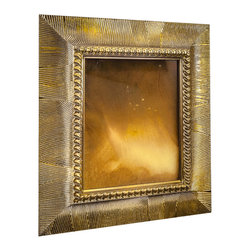 """Art Dallas, Incorporated - Art Dallas Antique Mirror - Sunrise - An Art Dallas handcrafted """"Sunrise"""" Antique Mirror framed with our Flash® molding with  - this one with a gold undercoat."""