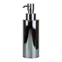 Hispania Bath - Hotel Table Soap Dispenser, Polished Chrome - Hotel counter-top soap dispenser with a simple but elegant design. It is part of a wide Collection of bathroom accessories designed and manufactured in Spain. Made in brass polished chrome highly reflective. Beautifully coordinates with other Macral Design items including a robe hook, towel rail, faucets, towel ring, and more. All available to be purchased any time online in our Houzz profile stock items. Designed and manufactured in Spain.