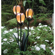 eclectic outdoor lighting by gardenartisans.us