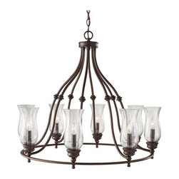 Murray Feiss - Murray Feiss F2784/8 Pickering Lane 8 Light Single Tier Chandelier - Features:
