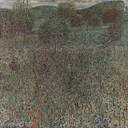 "Gustav Klimt Blooming Field - 16"" x 16"" Premium Archival Print - 16"" x 16"" Gustav Klimt Blooming Field premium archival print reproduced to meet museum quality standards. Our museum quality archival prints are produced using high-precision print technology for a more accurate reproduction printed on high quality, heavyweight matte presentation paper with fade-resistant, archival inks. Our progressive business model allows us to offer works of art to you at the best wholesale pricing, significantly less than art gallery prices, affordable to all. This line of artwork is produced with extra white border space (if you choose to have it framed, for your framer to work with to frame properly or utilize a larger mat and/or frame).  We present a comprehensive collection of exceptional art reproductions byGustav Klimt."