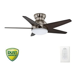 "Casablanca - Casablanca 59019 Isotope 44"" 5 Blade Flush Mount Ceiling Fan - Blades and Light - Included Components:"