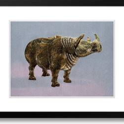 Art of Silk - Bronze Rhinoceros- Hand Designed Silk Art, Silk Embroidery - Silk embroidery art was invented in China over 2,500 years ago. This high quality silk art is created using embroidery techniques developed from the world famous Suzhou style of silk embroidery. Each piece contains over 100,000 stitches on average.