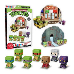 KOOLEKOO - Teenage Mutant Ninja Turtles Activity Playset - Experience the world of Teenage Mutant Ninja Turtles in papercraft! This Teenage Mutant Ninja Turtles Papercraft Activity Playset lets you make Donatello, Michaelangelo, Leonardo, Raphael, and Master Splinter out of papercraft! Plus, it even comes with popular areas and accessories from the Teenage Mutant Ninja Turtles series so that you can recreate your favorite scenes using papercraft! You can even make a version of Shredder and a Foot Ninja to clash with the Turtles!