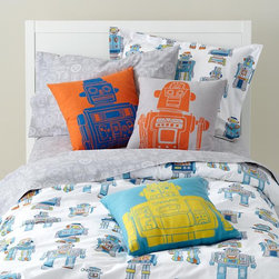 Robo-Bedding - Children who can't get enough of all things robot related would love all of these bedroom accessories.