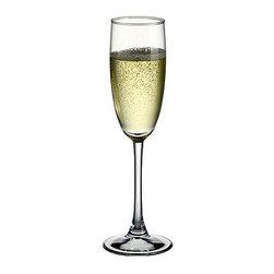 Hospitality Glass - 9H x 2T x 2 3/4B Enoteca 5.75 oz Champagne Flute 6 Ct - Enoteca 5.75 oz Champagne Flute