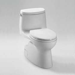 TOTO - TOTO MS614114CEFG#11 Carlyle II One Piece High-Efficiency Toilet, 1.28GPF, Colon - TOTO MS614114CEFG#11 Carlyle II One Piece High-Efficiency Toilet, 1.28GPF, Colonial White When it comes to Toto, being just the newest and most advanced product has never been nor needed to be the primary focus. Toto's ideas start with the people, and discovering what they need and want to help them in their daily lives. The days of things being pretty just for pretty's sake are over. When it comes to Toto you will get it all. A beautiful design, with high quality parts, inside and out, that will last longer than you ever expected. Toto is the worldwide leader in plumbing, and although they are known for their Toilets and unique washlets, Toto carries everything from sinks and faucets, to bathroom accessories and urinals with flushometers. So whether it be a replacement toilet seat, a new bath tub or a whole new, higher efficiency money saving toilet, Toto has what you need, at a reasona