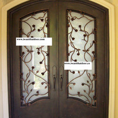 mediterranean front doors by Universal Iron Doors & Hardware Inc.