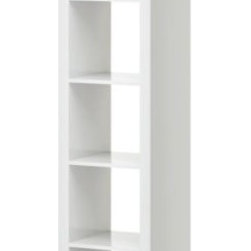 EXPEDIT Shelving unit - The Expedit is such a versatile piece, and this size is just right for using in the nursery. I would lay it on its side and tuck baskets into the cubbies for storage. You could use the top surface to display a few favorite toys, or have a cushion made to fit, turning it into extra seating.