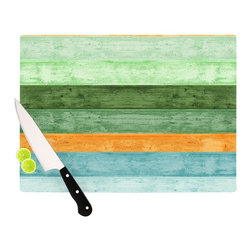 "Kess InHouse - Monika Strigel ""Beach Wood Blue"" Cutting Board (11"" x 7.5"") - These sturdy tempered glass cutting boards will make everything you chop look like a Dutch painting. Perfect the art of cooking with your KESS InHouse unique art cutting board. Go for patterns or painted, either way this non-skid, dishwasher safe cutting board is perfect for preparing any artistic dinner or serving. Cut, chop, serve or frame, all of these unique cutting boards are gorgeous."