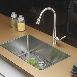 Ruvati - Ruvati RVC2320 Stainless Steel Kitchen Sink and Stainless Steel Faucet Set - Ruvati sink and faucet combos are designed with you in mind. We have packaged one of our premium 16 gauge stainless steel sinks with one of our luxury faucets to give you the perfect combination of form and function.