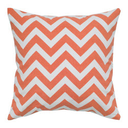 Rizzy Rugs - Orange and White 18 x 18-Inch Pillow - - Construction: Printing Details.  - Care and Cleaning: Machine Wash Seperately in Cold Water, Gentle Cycle, do Not Tumble Dry , Do not Bleach.  Rizzy Rugs - T05289