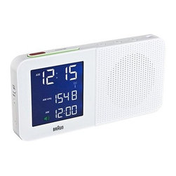 BRAUN - Braun Digital Alarm Clock in White - Braun's new digital table clock collection makes use of updated technologies without losing the design discipline of Braun's golden era. While the first round of travel alarm clocks were based on pre-existing Lubs designs from the 1980s and 1990s, the digital table clocks are brand new designs under the direction of Markus Orthey, a senior designer with Braun and Gillette in Germany.