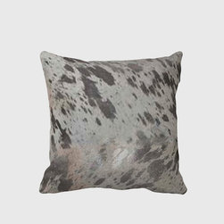Tomova Jai Designs - Burnished Silver Shimmer Decorative Pillow - This gorgeous  pillow is burnished silve and gives a little shimmer and shine.