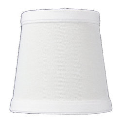 Home Concept - Chandelier Clip-On White Linen Deluxe lamp shade 3x4x4 - Celebrate Your Home - Home Concept invites you to welcome your guests with our array of lampshade styles that will instantly upgrade your space