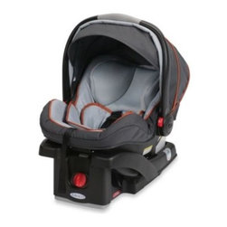 "Graco - Graco SnugRide Click Connect 35 LX Infant Car Seat in Alloy - The supremely lightweight SnugRide Click Connect 35 LX is designed to provide the most convenient infant car seat features and innovative child protection system for rear-facing infants weighing 4 to 35 lbs. and up to 32"" tall."
