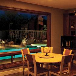 Sliding Windows - A dreamy pool view.