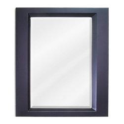 "Hardware Resources - Elements Dalton Mirror in Painted Espresso (MIR068) - 23"" x 28"" Espresso mirror with beveled glass"