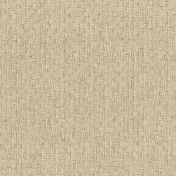 Hui Ying Taupe Grasscloth Wallpaper - This very chic woven pattern of natural taupe straw creates a basket pattern on walls. An exotic grasscloth wallpaper, authentic and eco-chic.