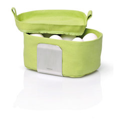 Desa Egg Basket Organizer  Neutral Colors, Green