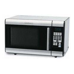 """Cuisinart - 1.0 Cu. Ft. Microwave in Brushed Stainless - Featuring a stainless steel interior and 25 preprogrammed settings, this microwave oven supplies the ideal cooking environment. It features touchpad controls with LCD, a rotating 12"""" glass tray and eight preset menu options. Its nonporous stainless steel will not absorb odors, moisture or food particles. The sleek stainless design and stylish chrome handle give this microwave an appealing modern look that will be a welcome addition to any kitchen. Features: -8 Preset menu options. -25 Preprogrammed settings. -Rotating 12"""" glass tray. -Sleek and stylish design. -Nonporous stainless steel interior. Specifications: -Capacity: 1.0 cu ft. -Power consumption: 1000 W. -Limited 3-year warranty. -Overall Dimensions: 15.94"""" H x 23.78"""" W x 18.82"""" D."""