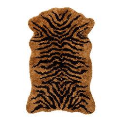 Tiger Bath Mat - In bold orange, this plush bath mat is guaranteed to make your bathroom roar.