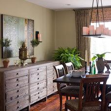 Contemporary Dining Room by Lauren Liess Interiors