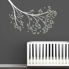 Littlelion Studio Blossom Reaching Branch Wall Decal - fawn&forest